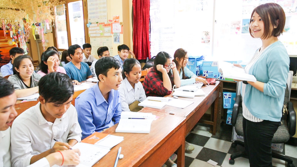 """NIHONGO Partners"" and students"
