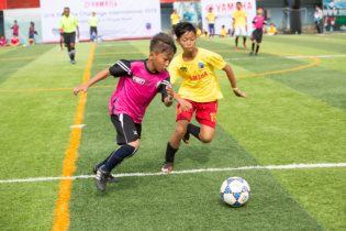 National Police U14 Academy (pink) vs Por Senchey U14 Academy (yellow)